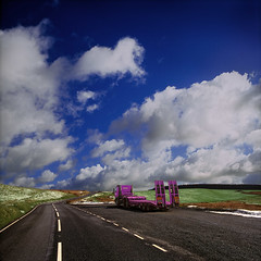 Truck Break on Mynydd Preseli (steffanmacmillan) Tags: road sky snow tarmac wales clouds forest spring time britain cymru fields welsh colourful pembrokeshire coniferous paved bullrushes naturalmente supershot 10faves preselihills gayroad preselimountains illtakethehighroad gaytruckie gayvehicle mynyddpreseii