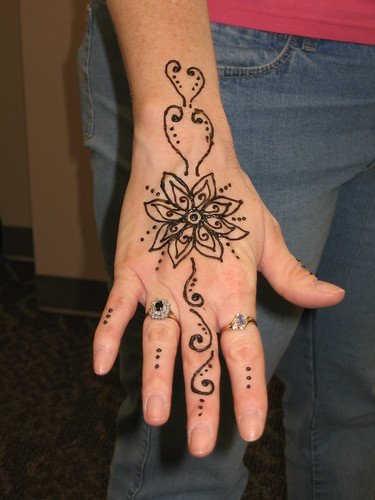 Flower Henna Tattoo Design. Flower Henna Tattoo Design