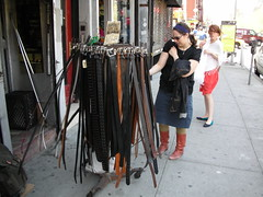 Belt Shopping (kumar303) Tags: nyc ny newyork manhattan lowereastside belts windy
