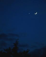 Moon meets Venus (Sabby3000) Tags: light sunset shado