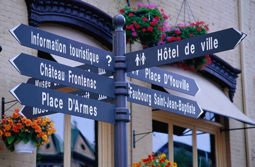 Old Quebec street signs