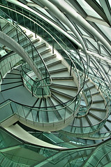 London City Hall (nick.garrod) Tags: city building london architecture stairs spiral hall mayor wind snake south curves ken bank norman foster normanfoster sir curved hdr escaleras gla coiled livingstone twisting glabuilding londoncityhall artizen lock06 megashot abstract2009