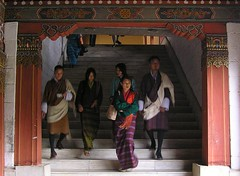 Exit the dzong
