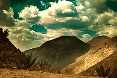Dreamy Sky (Luis Montemayor) Tags: sky mountains clouds landscape mexico explore cielo nubes cerros myfavs montaas sanluispotosi dflickr colorpho