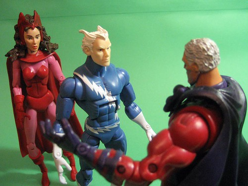 Scarlet Witch, Quicksilver, and Magneto