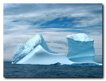 The iceberg looms
