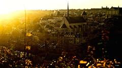 Coucher de soleil sur Poitiers (alexandrecrozet) Tags: poitiers coucher de soleil cathédrale nikon d5100 35mm