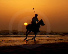 DUAL POLO (smrafiq) Tags: sunset beach karachi sindh pakistan nikon coolpixl4 polo aplusphoto infinestyle sm smrafiq art clouds color
