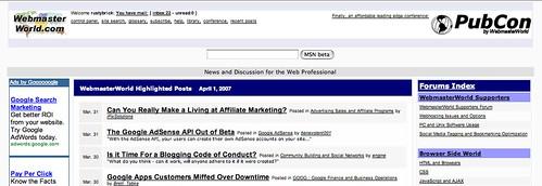 WebmasterWorld April Fools Day