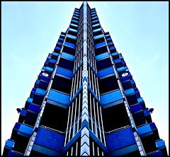 symmetric blue (jonas_k) Tags: blue house berlin kreuzberg germany deutschland geometry sigma haus nikond50 hochhaus symetrix