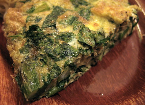 asparagus, mint and tarragon frittata