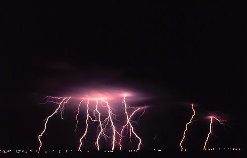 Night Thunderstorm by C. Clark, 1978 (NOAA)