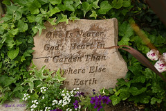 The Garden Sign (redhatgal ~ Barbara Butler/FireCreek Photography) Tags: ca flowers sign garden spring kerncounty womenphotographers bakersifeld redhatgal kerncountyphotographers kerncountyphotogaphers redhatal
