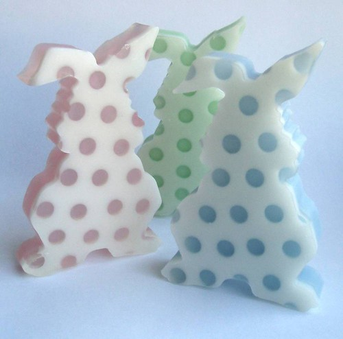 Polka Bunny Soap Bars