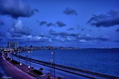 Alexandria At Dawn...  (HDR) (Nomad Saleh) Tags: blue sea sky alex alexandria clouds egypt nomad hdr photomatix tonemapped kornish impressedbeauty wowiekazowie diamondclassphotographer flickrdiamond