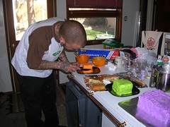 Dad making cake