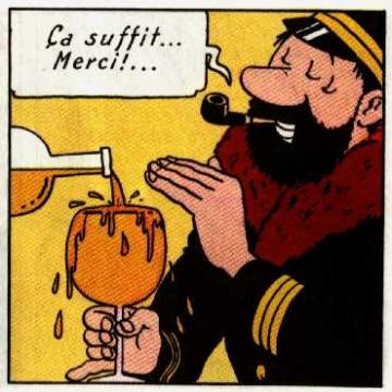 Capitao Haddock bêbado