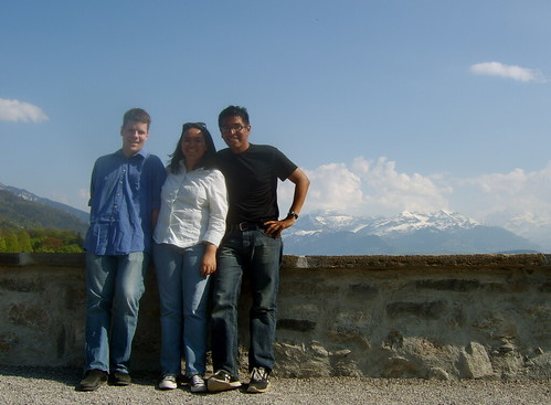Lake Thun - Aaron, Anna, and me
