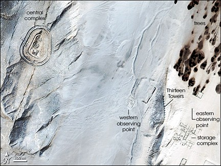 Chankillo Perú vista satelite NASA