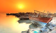Sailors' Memoreis [HDR] (Hussain Shah.) Tags: sea port d50 boat wooden nikon ship kuwait 1855mm nikkor hdr breathtaking doha cokin الكويت 6shots câmeradeourobrasil superaplus aplusphoto gradualtobacco ميناءالدوحة alemdagqualityonlyclub