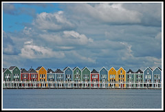 Rietplas Houten (buteijn) Tags: holland color water netherlands colors dutch photo colorful utrecht nederland award wolken niederlande houten huizen luchten kleuren rietplas abigfave p1f1 colorphotoaward superbmasterpiece