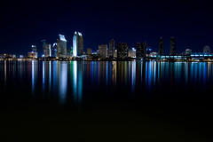 San Diego (.cpt) Tags: skyline night canon reflections sandiego 1022mm 30d canonefs1022mmf3545usm creativephotographers
