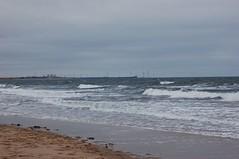 Seaton Sluice, looking towards Blyth (linesandlines / loveitloveit) Tags: sea beach seaside northumberland powerstation blyth seatonsluice bastardcold