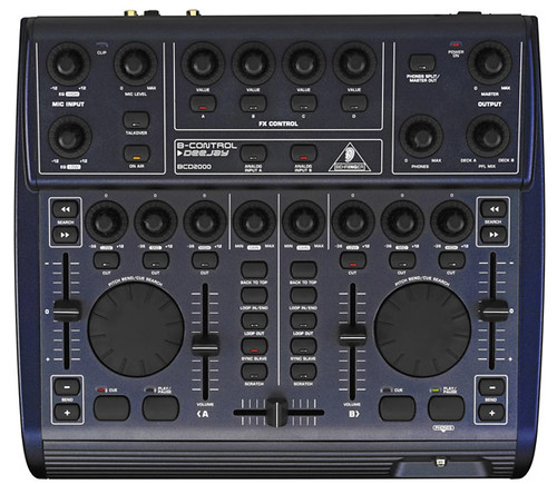 A digital DJ console