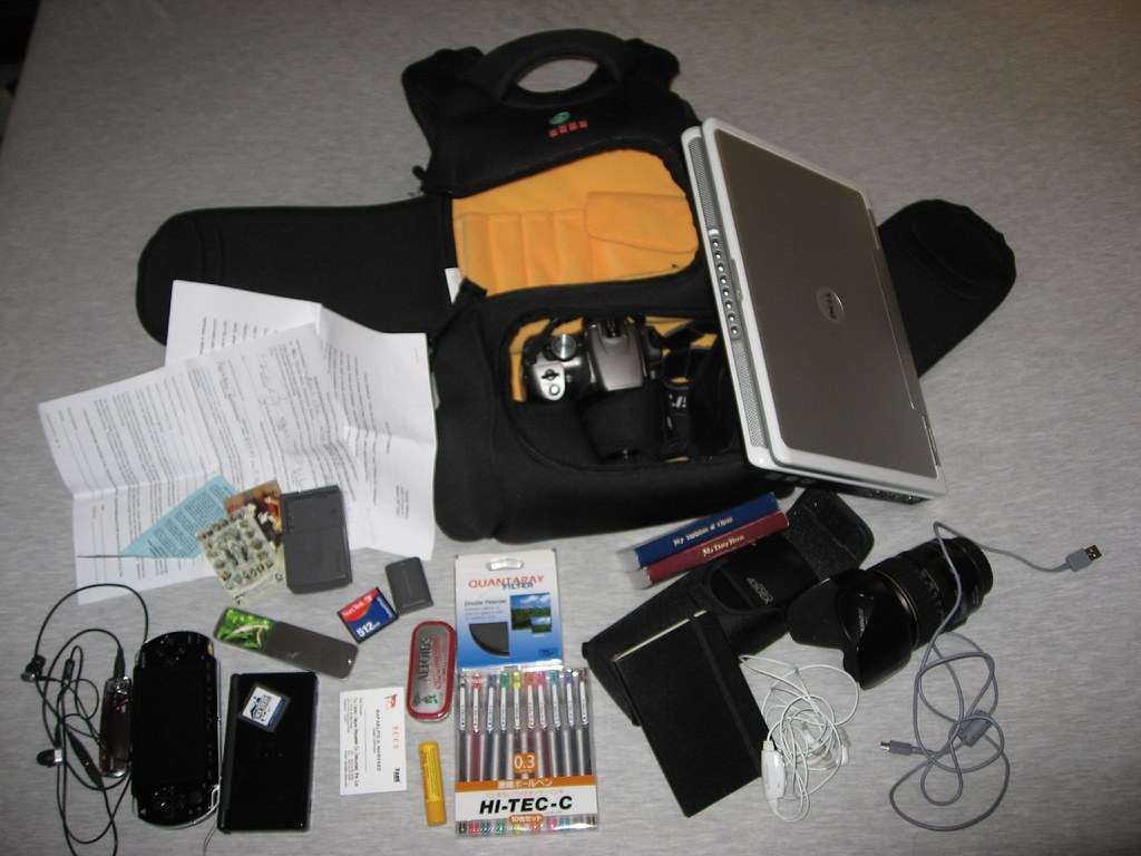 my laptop/camera/school bag with other geek gear