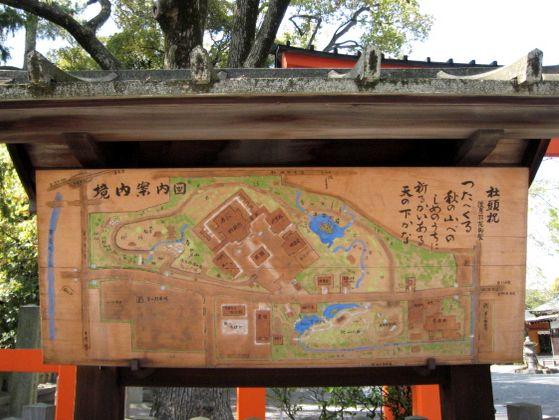 京都・城南宮2 境内案内図