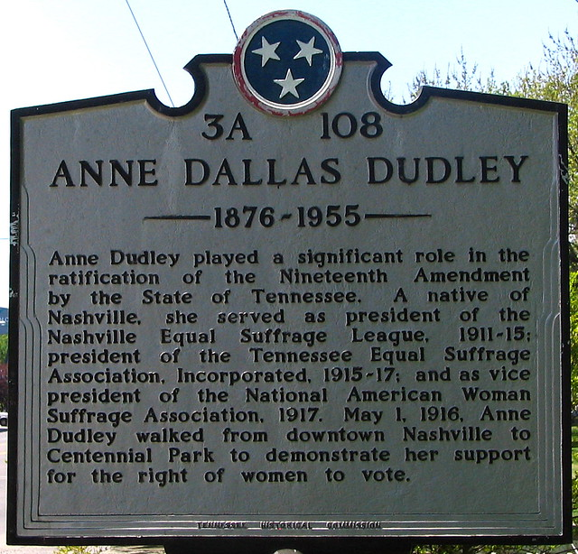 Anne Dallas Dudley historical marker
