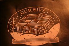 cursive has good merch