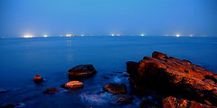 City of the oceans. (Matthew Fang) Tags: city blue light sea rock night d50 coast topf50 nikon bravo image shots hometown taiwan oceans keelung outstanding naturesfinest blueribbonwinner supershot magicdonkey abigfave anawesomeshot colorphotoaward goldenphotographer diamondclassphotographer flickrdiamond ysplix searchandreward flickrphotoaward