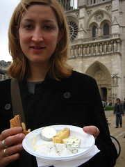 Jessica and her cheese at Notre Dame