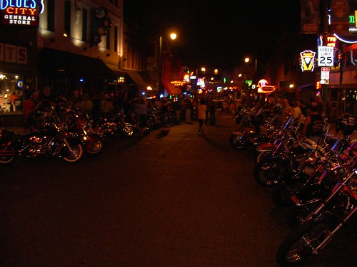 Biker night on Beale Street.