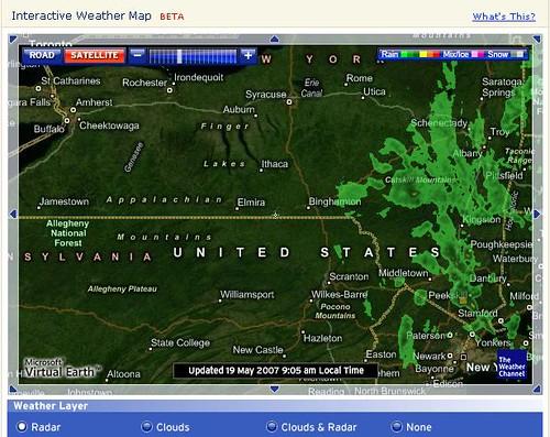 Weather com's new interactive radar helps with flight planning