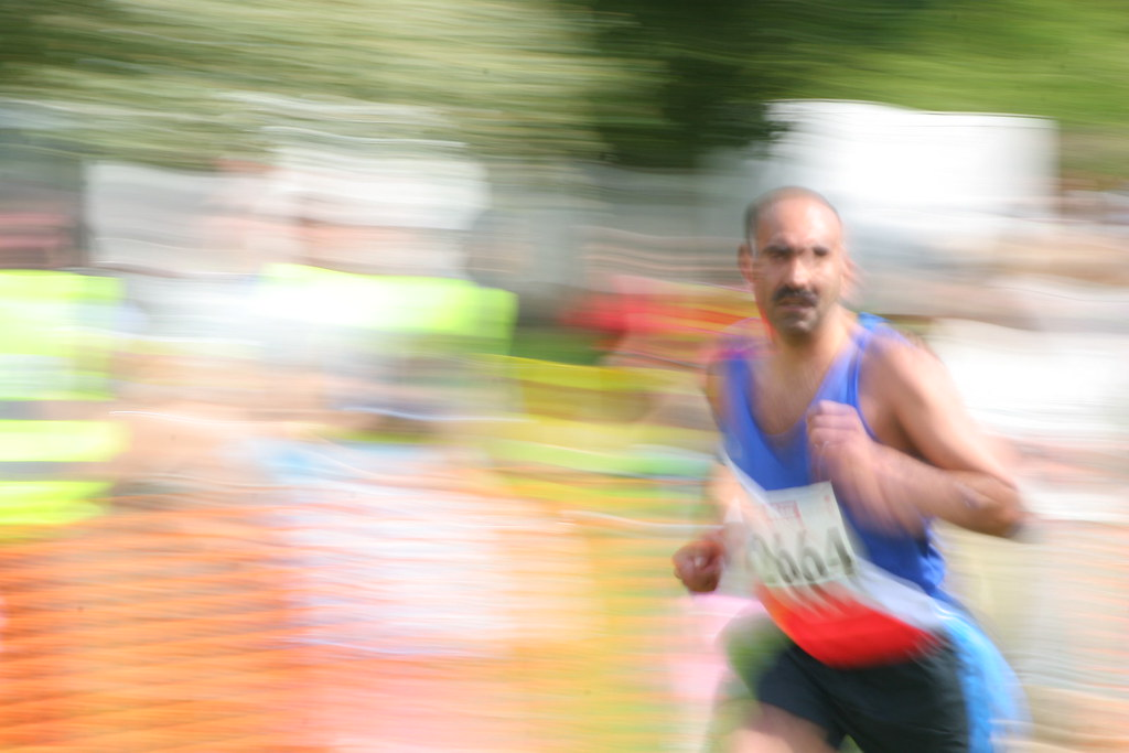 guy running/motion blur