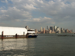 Downtown Manhattan (chelseafb) Tags: nyc usa newyork ferry skyline newjersey unitedstates manhattan nj hudsonriver hoboken