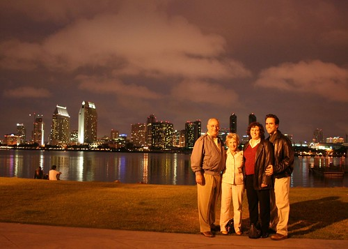San Diego at night with the Herschs