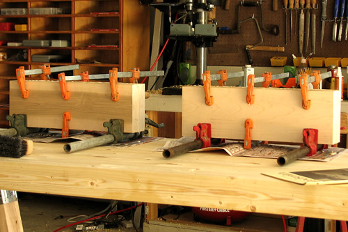 Glued vise jaw blanks