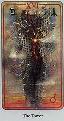 Turm XVI Haindl-tarot