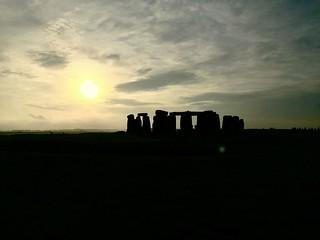 A Stonehenge sunset
