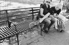 smart phone adventures (Ioannis the graecum) Tags: canon a1 fd lens adox silvermax iso 100 new york city nyc battery park