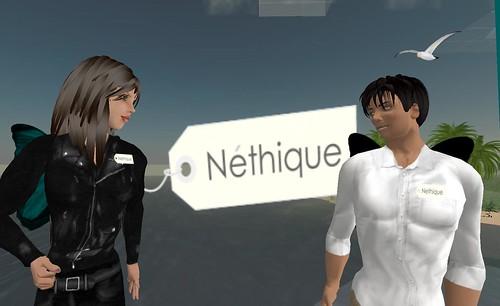 Je suis néthique et toi ? campagne dans Second Life