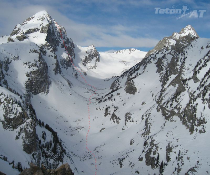 Route to North Couloir-Buck Mountain, West Peak