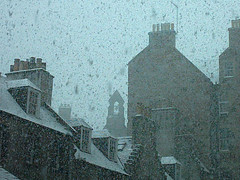 Old Town in snow (byronv2) Tags: street winter snow weather architecture buildings scotland edinburgh oldtown