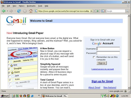 Gmail Paper Archive