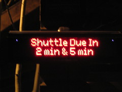 NextBus sign in Vail, Colo.