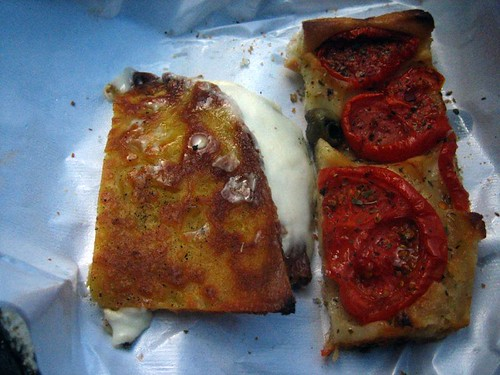 Some Farinata and Foccaccia... a greasy tasty lunch