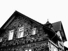 House (:::Miriam:::) Tags: trip viaje house blancoynegro window calle arquitectura holidays frankfurt bn langenselbold